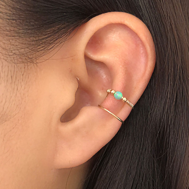 Sterling Silver Twisted Cartilage Mini Ear Cuff No Pierce