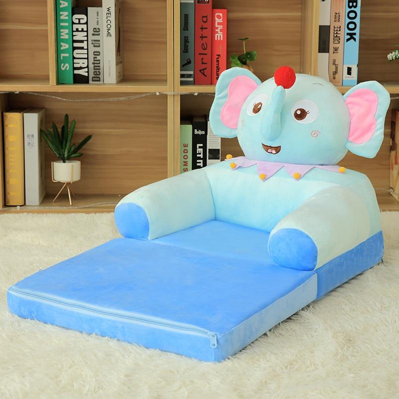 Livraison directe nouveau Design Peluches en peluche peluche jouet fauteuil doux cochon éléphant canapé chaise pour enfants enfant en bas âge enfants cadeaux - 3