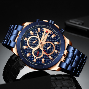 Image 4 - CURREN Men Watch Top Luxury Brand Stainless Steel Business Clock Chronograph Army Sports Quartz Male Watches Relogio Masculino