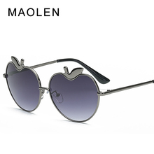 MAOLEN 2018 New Apple love Sunglasses lady Fashion Lady Street, Sun Glasses, European and American couples Shades