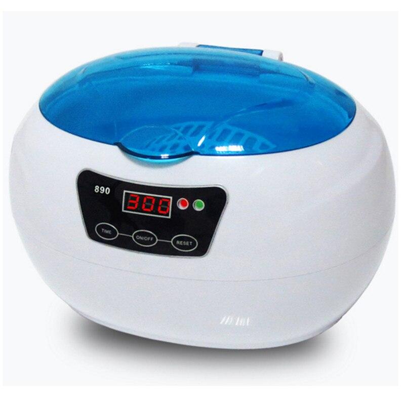 Portable Ultrasonic Cleaner Wash  Dental 600ML 35W Mini Vegetable Ultrasound Cleaner multi function 35w ultrasonic cleaner grey 600ml