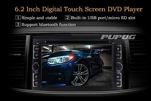 2 Дин Автомагнитолы стерео 6.2 дюймов Bluetooth аналоговый ТВ USB/SD IPOD RDS AM, FM Радио Ipod медиа Бесплатная Реверсивный Камера