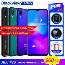 Blackview A60 Pro 4G LTE 4080mAh Smartphone 6.088″Waterdrop Screen mobile phone Android 9.0 3GB RAM Dual Rear Camera cell phone-in Cellphones from Cellphones & Telecommunications on Aliexpress.com | Alibaba Group