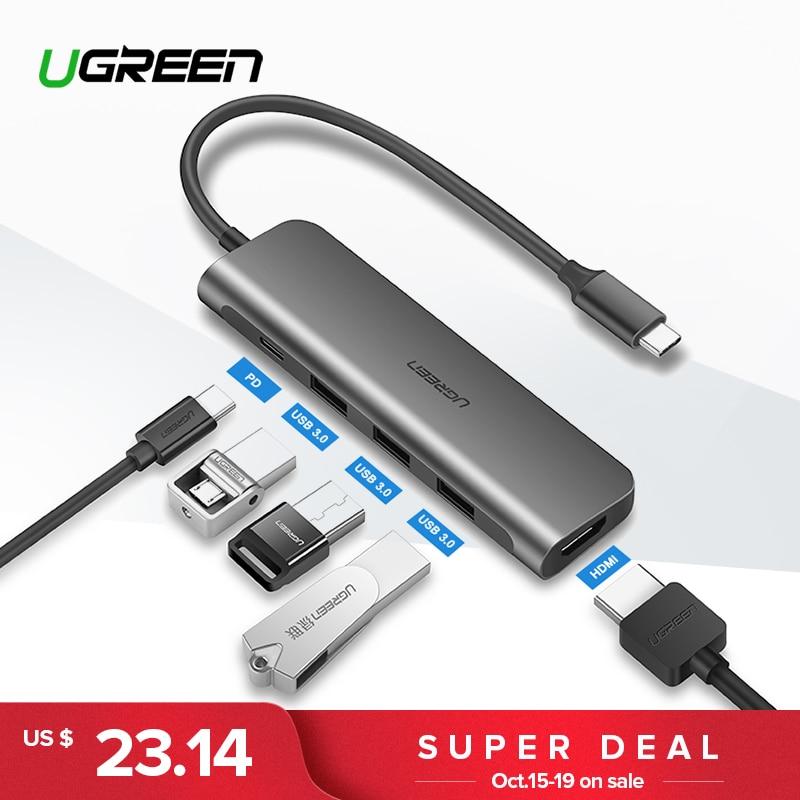 Ugreen USB HUB C USB-C a 3.0 HUB HDMI Thunderbolt Adaptador para MacBook Samsung Galaxy S9 3/Nota 9 huawei P20 Pro Tipo C HUB USB