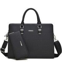 2017 Casual Men S Briefcase Bag Men Business Brand Messenger Shoulder Bags Fashion Man PU Leather