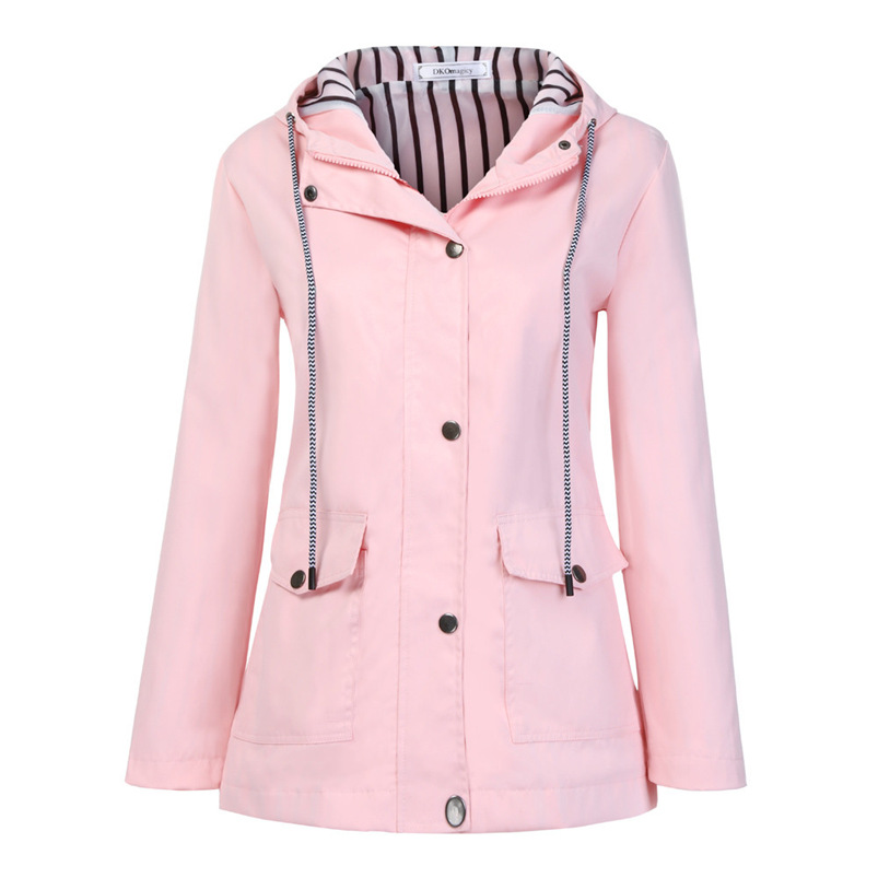 Rain Coat Women Plus Size Coat 2018 Long Sleeve Waterproof Jacket Hooded Raincoat Jacket Women Clothes Warm Coat Girl #O11 (29)