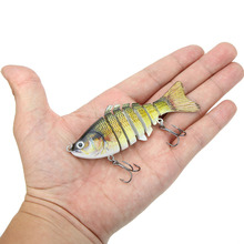 Lixada 10cm/4″ 15.5g  Bionic Jointed Fishing Lure SUN-FISH Lifelike Hard Bait Bass Walleye Pike Muskie Roach Trout Swimbait