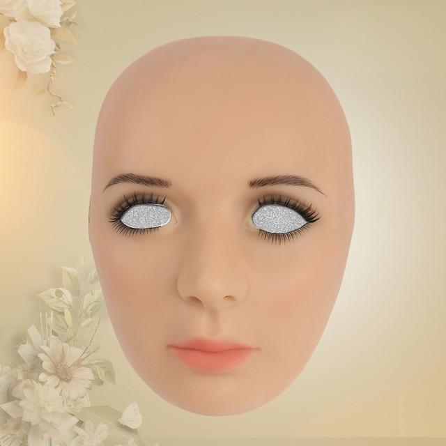 9afde99edde silicone mask female Goddess Alice female face mask with light makeup for  crossdresser Masquerade Hide facial