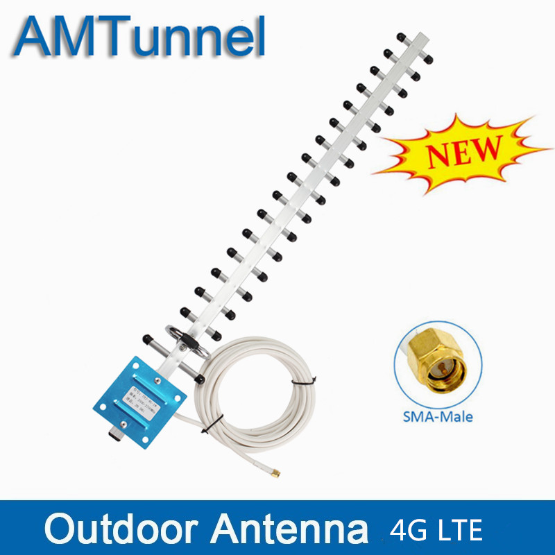 4G Antenna 4G WIFI LTE Antenna Outdoor SMA Male With 5m Cable 20dBi WIFI Directional Antenna For 4G LTE Router Modem