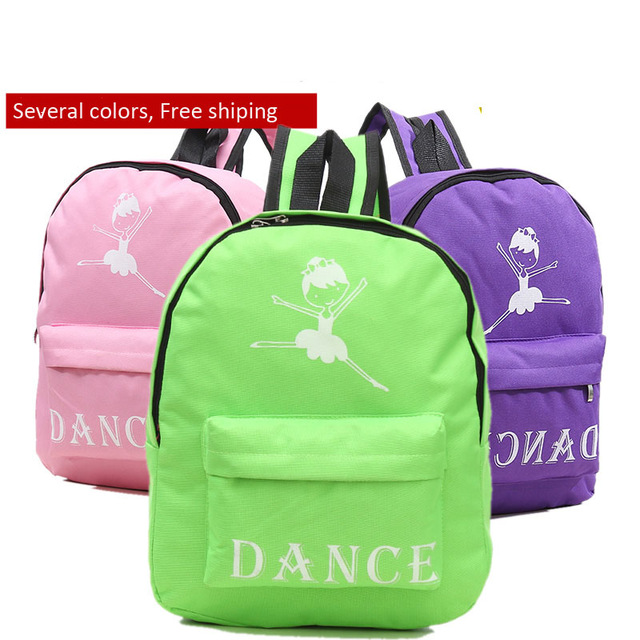 Seven Color Children Ballerina Dance Shoulder/Backpack Bag Canvas Ballet Bag For Girls Preschool Kids Dance Bag For Ballet
