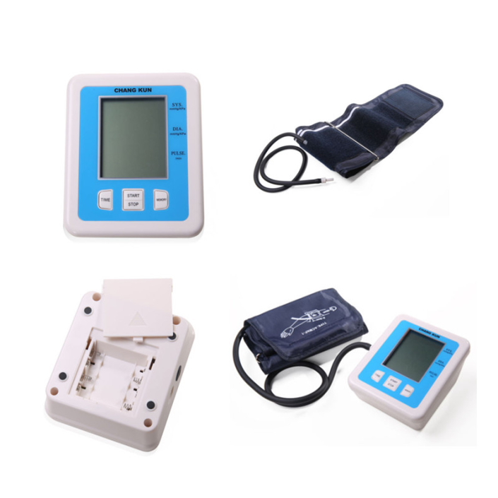 1pc LCD Digital Memory Arm Blood Pressure health care Professional Sphygmomanometer Monitor Heart Beat Meter Health Monitor home care laser light therapy instrument wrist watch type reduce high blood pressure