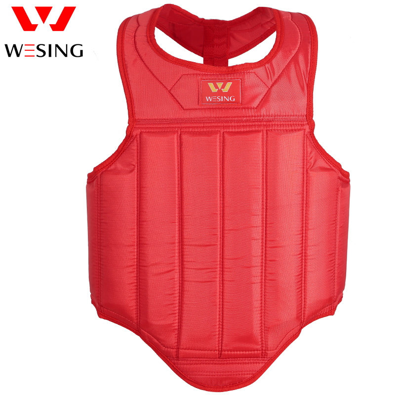 Wesing Sanda mens chest guard martial Arts body protector boxing adult oxford