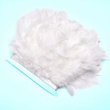 wholesale 10Meters fluffy Turkey feathers trimming fringe 4-6inch DIY Dyed marabou feather ribbon Skirt Dress plumes decoration