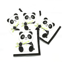 20PCS/LOT PANDA NAPKINS BABY SHOWER PAPER DISPOSABLE TABLEWARE TISSUES
