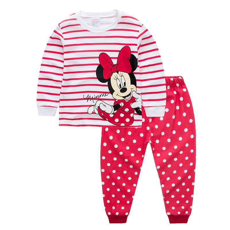 Jumpingbaby 2018 Kigurumi Minnie Piżama Pijama Zestaw Baby Girl Clothes Piżama Piżamy dziecięce Infantil Enfant Nightgown Cartoon Pjs