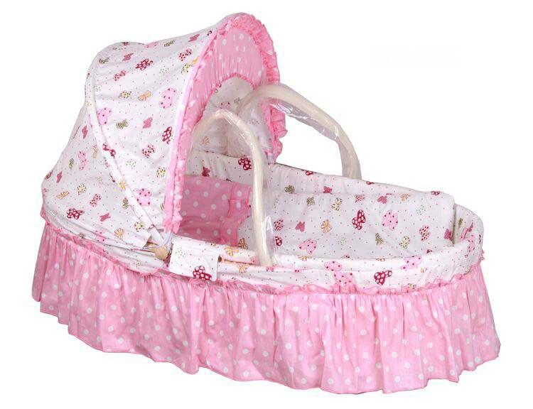 Maisstroh cradle keine farbe holzrahmen baumwolle baby stubenwagen