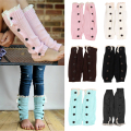 New Winter Warm Children Girls Student Leg Warmers Socks Lace trim Button Crochet Knit Boot Cuff Knee Socks