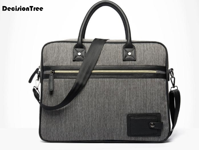New Retro Men Business Briefcases Male Oxford Multi-function Computer Laptop Bags High Quality Simple Shoulder Handbags L409