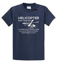 T Shirt Vintage Moda Uomo Girocollo Elicottero Pilota Manica Corta T Shirt