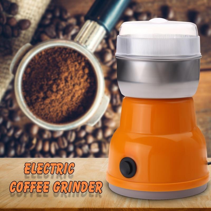 1Pcs  Auto Coffee Grinder Machine EU Plug 220V 200W Kitchen Salt Pepper Nuts Electric Coffee Grinder