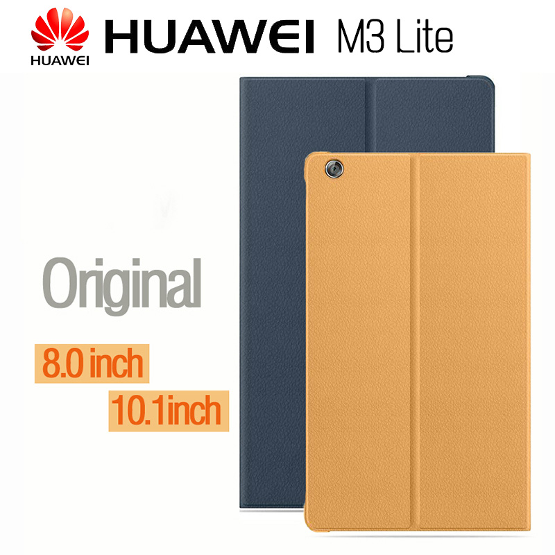 цена HUAWEI M3 Lite Case Official Original Smart View HUAWEI Mediapad M3 Lite Cover Kickstand Flip Leather Case Tablet Cover 8.0 10.1