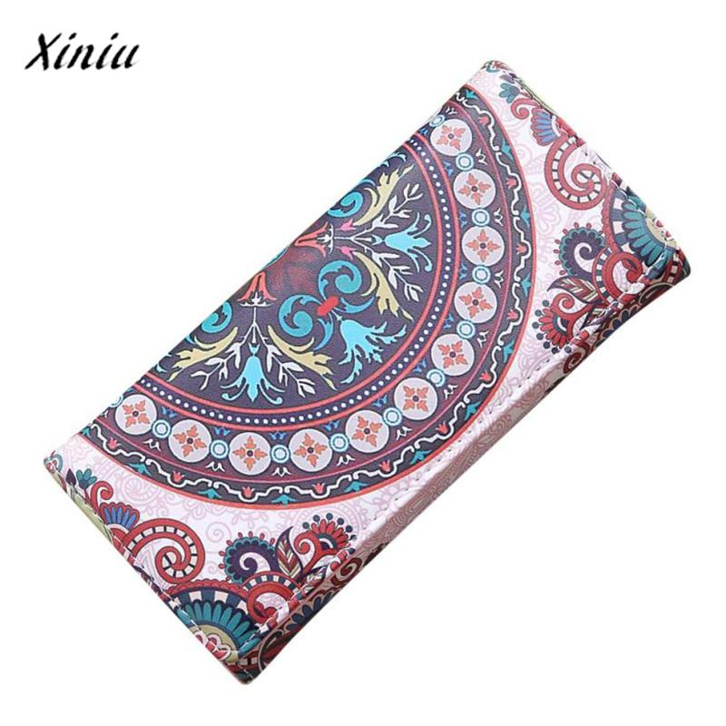 xiniu Low Price Women Pattern Hasp Long Wallet Coin Purse Card Holders woman wallet long carteras mujer Cluthes