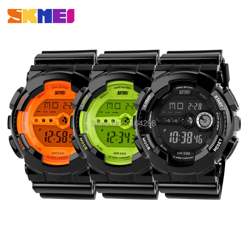 Free shipping fashion High Quality Skmei Watches women Golden plastic digital watches font b Men b