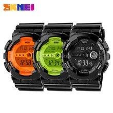 Envío libre Skmei Relojes de Alta Calidad de la manera de las mujeres, plástico de oro relojes Hombres Mujeres Reloj de la Marca del relogio digitales