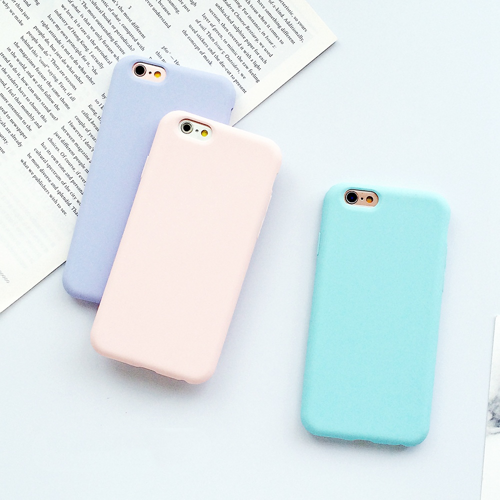 Solid Color Simple Ultrathin Soft Back Cover TPU Silicone Frosted Matte Case for iPhone 5 5s SE 6 6s 7 8 plus X 10 7plus 8plus