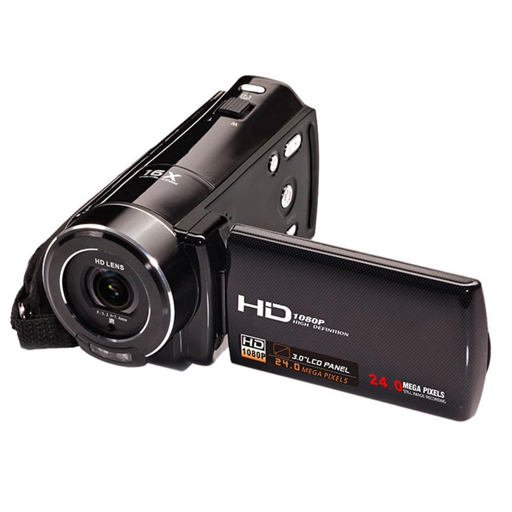 HDV-V7 1080P Full HD Digital Video Camera Camcorder Max. 24 Mega Pixels 16 Digital Zoom with 3.0 Rotatable LCD Screen 3 0 inch touch lcd screen digital video camcorder 16x zoom hd1080p digital camera max 16 0 mega pixels 270 degrees rotation