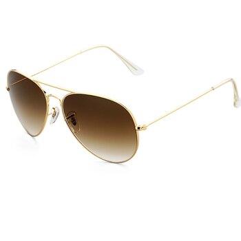 3025 gafas de sol de las mujeres de los hombres de los niños 52 56 60mm piloto de la Lente de Cristal espejo gradiente gafas polarizadas