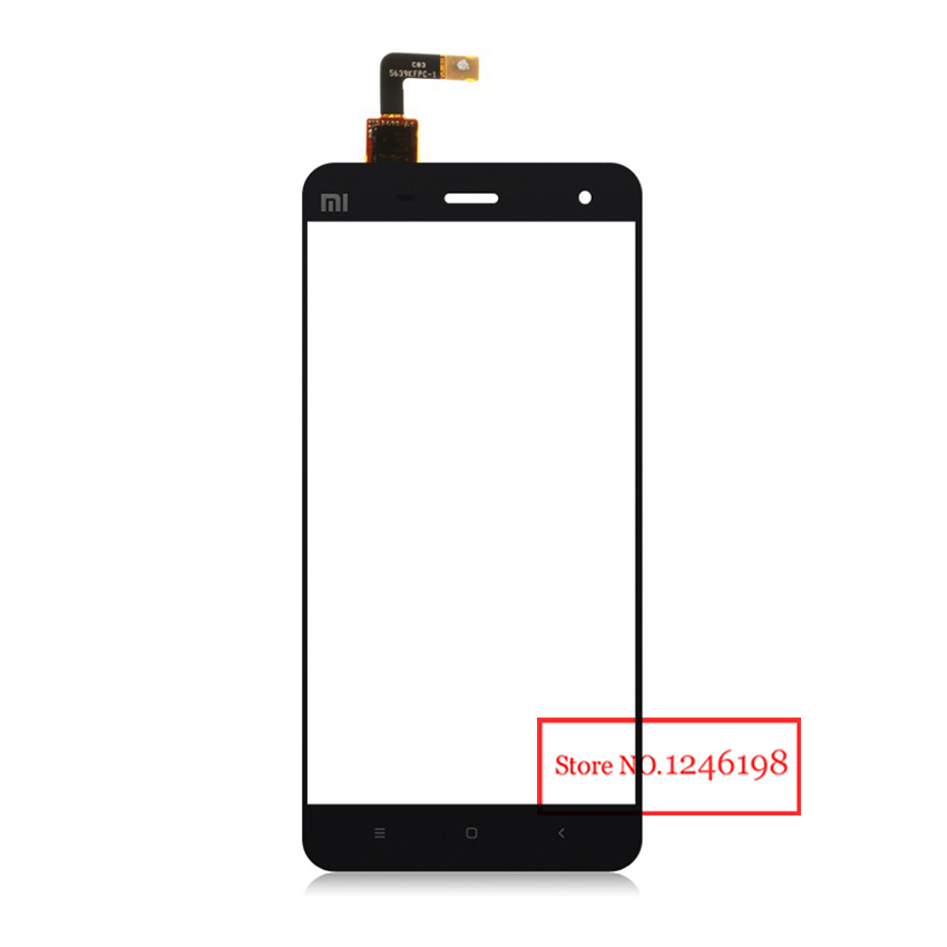 100% GOOD Working Black Outer Glass Panel Lens Touch Screen Digitizer For Xiaomi M4 MI 4 Mi4 M 4 Replacement Parts Free Shipping