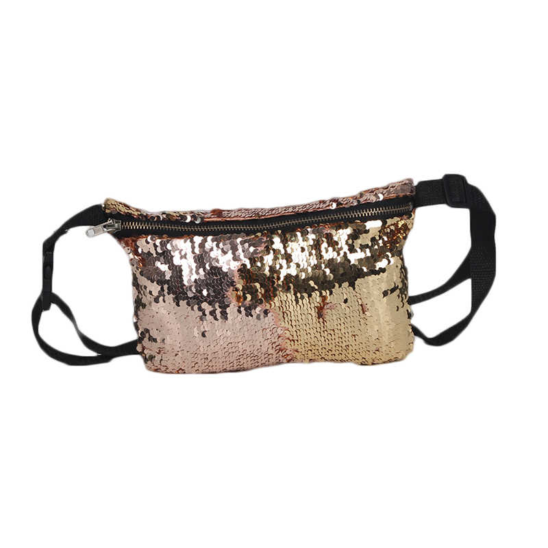 ... Adisputent Women Fashion Reversible Sequin Glitter Waist Bags Belt Bum  Bag Pouch Hip Purse Waist Packs b2c64f0f9c5e