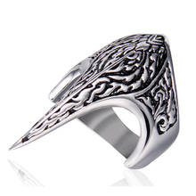 polished Stainless Steel silver gold Personal men ring for women decorative stylish sharp pointed punk rock ring men fashion shiying jz014 men s stylish 316l stainless steel ring silver
