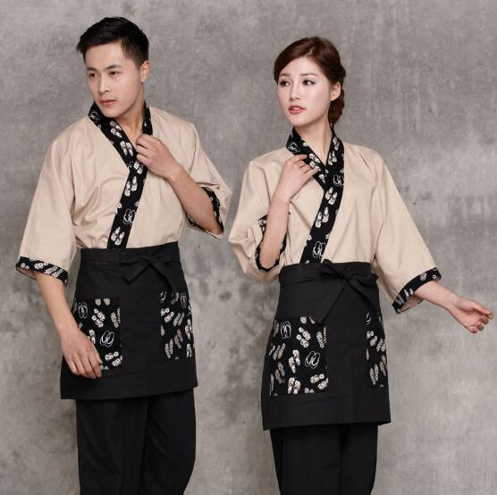 Chef uniform Men 2017 Japanese waitress uniform Japanese waiter uniform ...