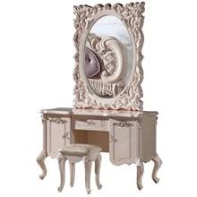 Белый Европейский зеркальный стол французская мебель 09