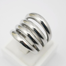 New Long Wide Party Punk Rings for Women Stylish Casting Women Ring Stainless Steel Fashion Wholesale