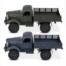 Plastic Four-wheel Drive Simulation RC Remote Control Model army military truck climbing Car Educational Blue Green Model(China)