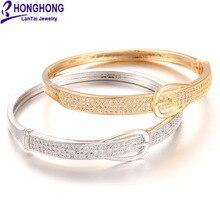 Honghong Цирконий высокого качества пряжка на пояс стиль браслеты для женщин Свадьба благородный элегантный стиль невесты браслеты, бижутерия
