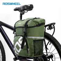 ROSWHEEL 16L Waterproof Bike Rack Bag 2 Colors Outdoor Cycling Durable Rear Rack Tail Seat Trunk