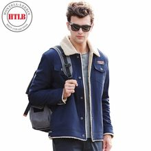 Brand New Men Autumn Winter Casual Fleece Denim Warm Jacket Parkas Coat Men Thick Warm Windproof Pocket Jacket Parkas Men 4XL(China)