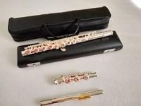 Япония корпус флейта музыкальный инструмент 17 отверстие YFL 471 E открытого ключа музыка с основной флейта позолоченный с мундштуком производ