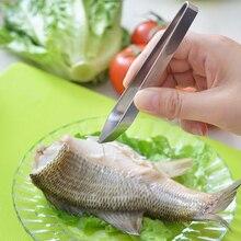 Нержавеющая сталь рыбья кость remover Fishbone Пинцет щипцы практика кожи удаления плоскогубцы