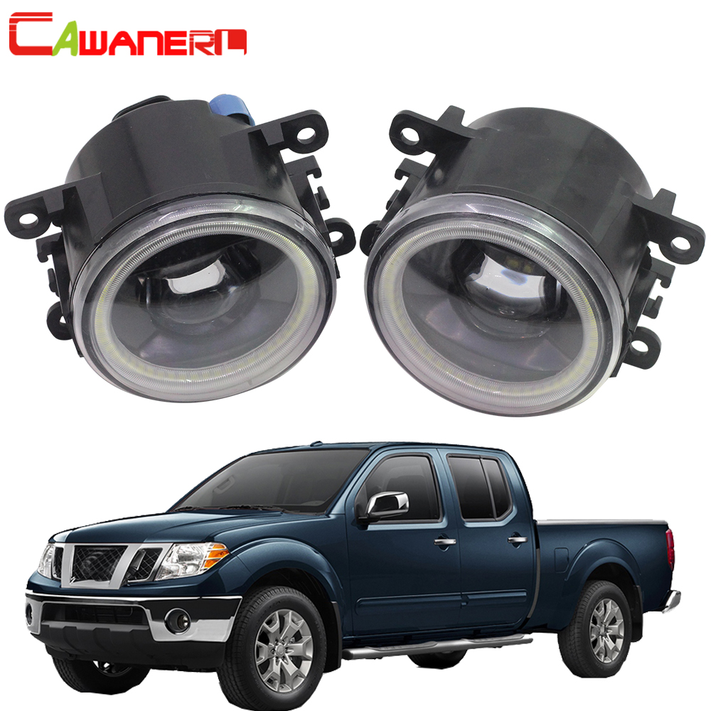 Cawanerl Car LED Fog Light Angel Eye Daytime Running Lamp DRL For Nissan Frontier 2005 2015