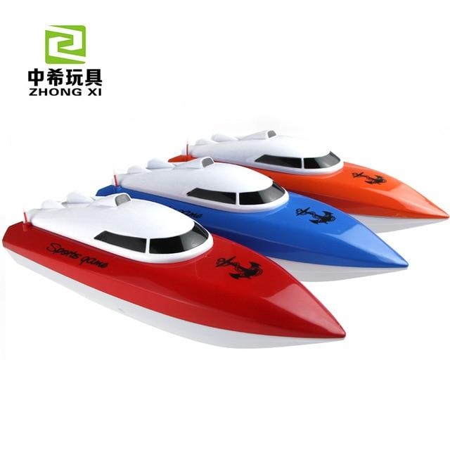 Nuevo llega impermeable rc mini barco de la velocidad 10 km/h de velocidad con brushless 4ch rc racing barco modelo toys