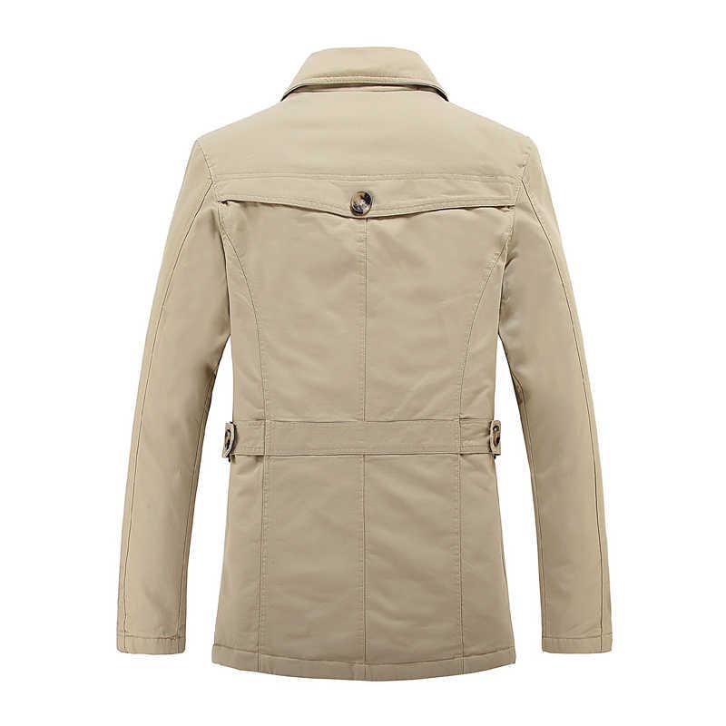 תעלת מעיל גברים מותג ארוך מעיל גברים עבה צמר מזדמן מעיל רוח parka מעיל גותי מעיל