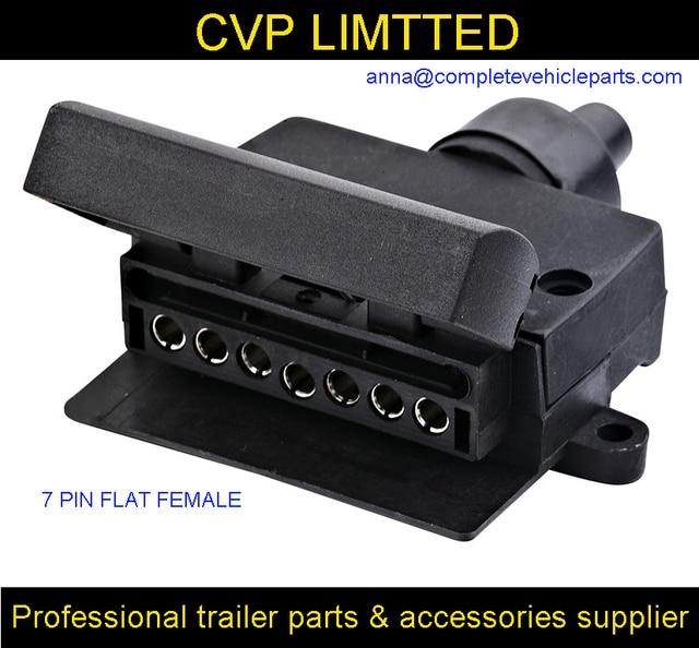 7 pin flache weibliche anhänger anschlussbuchse/boot/wohnwagen ...