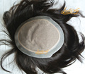 4 In Beautie Natural Hairpieces With Silk Base and NPU around, Straight Hair Women Toupee Without Knots