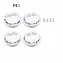 4pcs/Lot Smoke Detector Fire Detector Alarm Sensitive Photoelectric Independent Fire Smoke Sensor For Home Office Shop Hotel 10pcs sensor sensitive photoelectric home independent alarm smoke detector fire alarm alone sensor for family guard