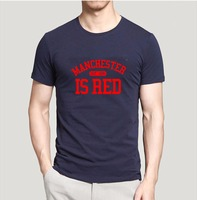 2016 Summer New United Kingdom Manchester Is Red Letters Print T Shirt 100 Cotton High Quality